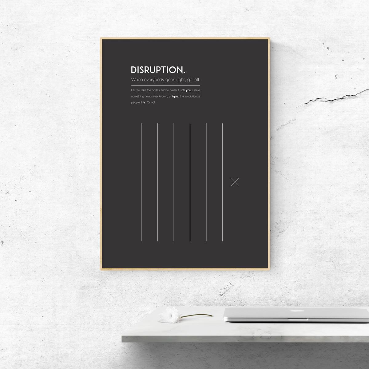 Poster modern Design - Disruption - Issé Ari Design