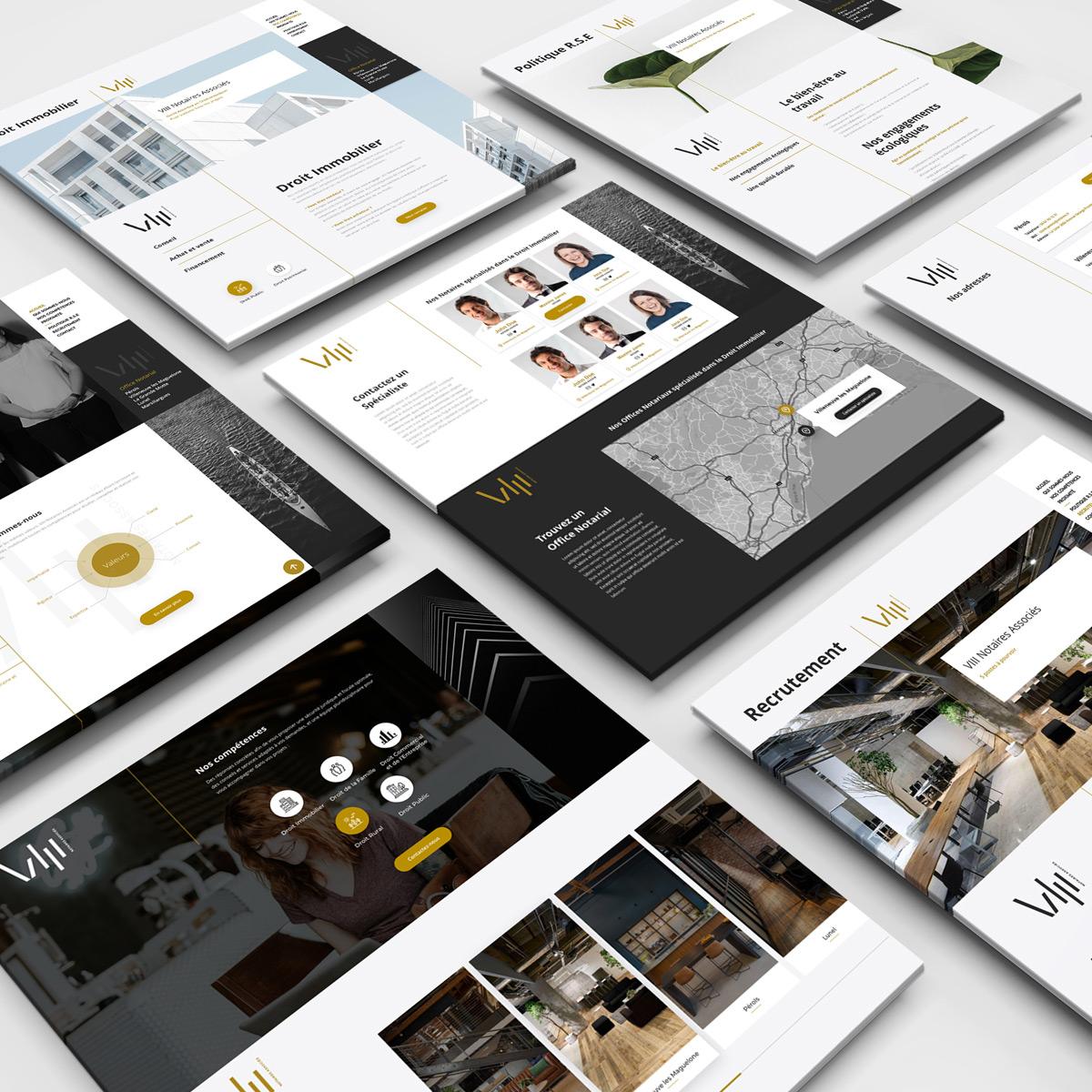 8 Notaires Associés - Web Design - Issé Ari Design
